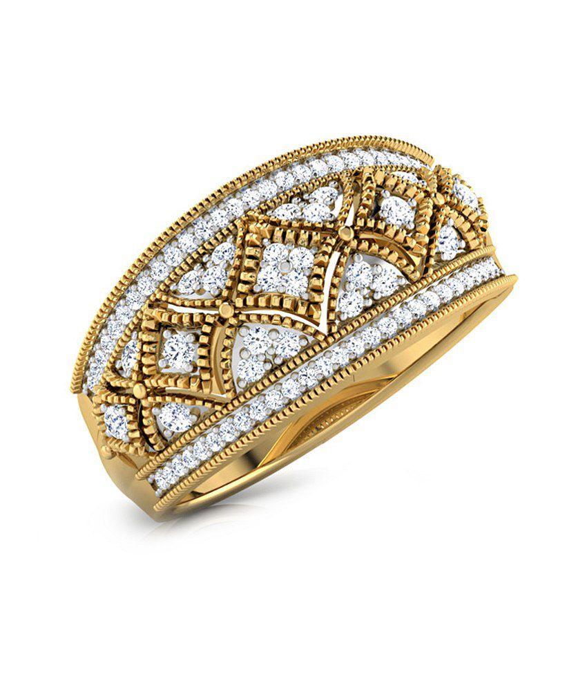 Caratlane 18 Kt Yellow Gold Kaiser Ring by CaraLane