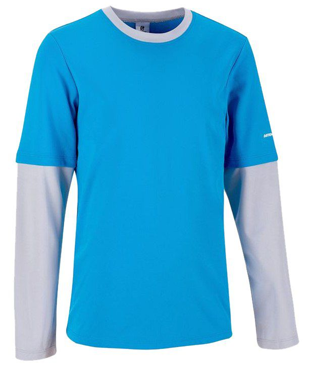 Artengo Blue & Gray T Shirt for Boys