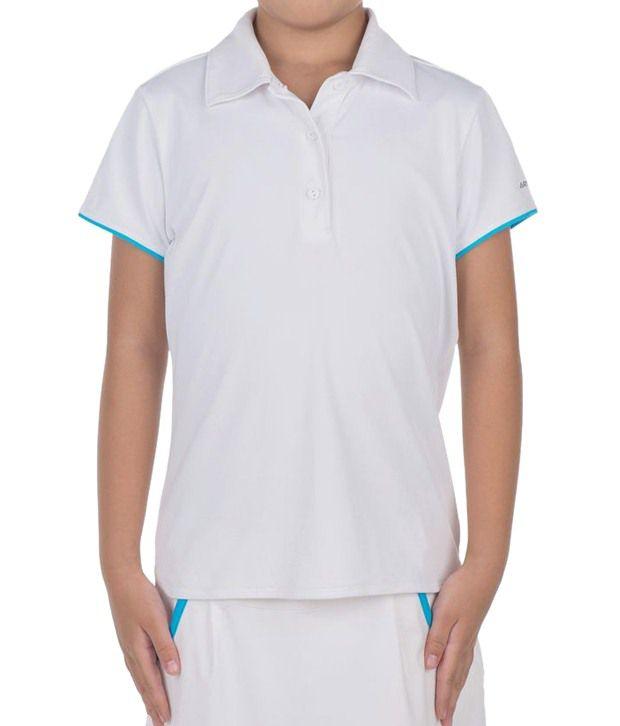 Artengo Lightweight White Polo T Shirt for Girls