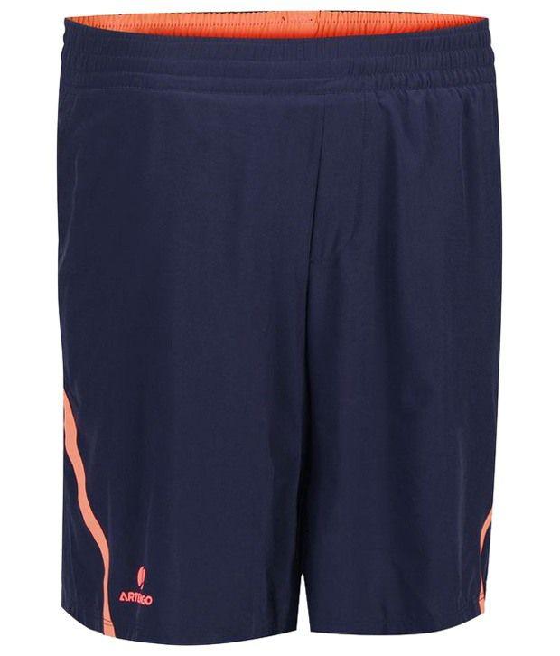 Artengo Stylish Orange & Navy Tennis Shorts for Men