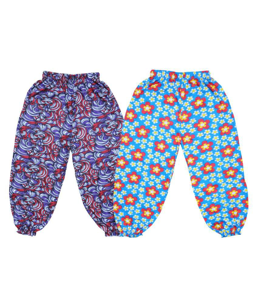 Bodymate Cotton Printed Capris Pack of 2