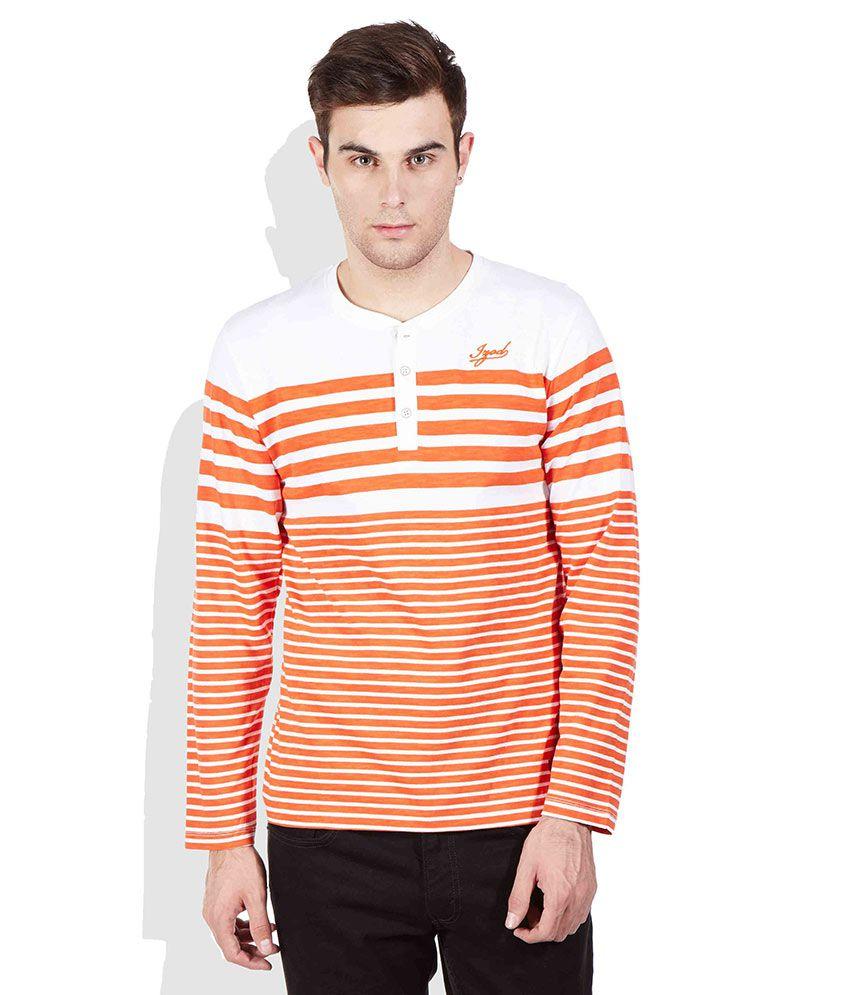 Izod Orange Henley T-Shirt