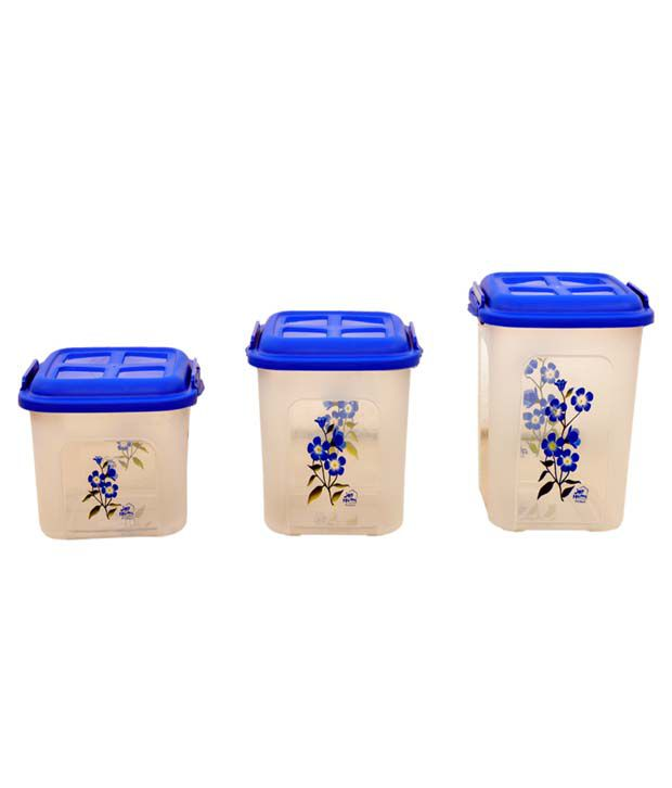 Joy Home Kitchen King Set Of 3 Large Containers3 Litre 16