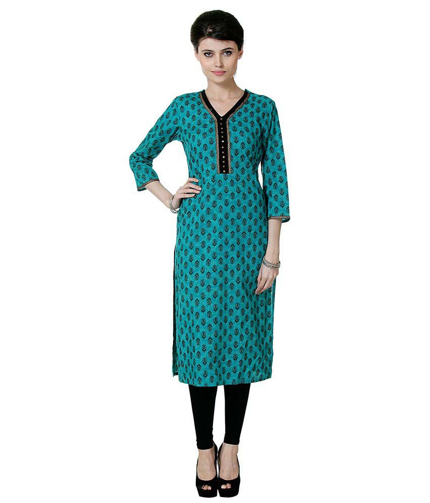 Varanga Green Cotton Kurti