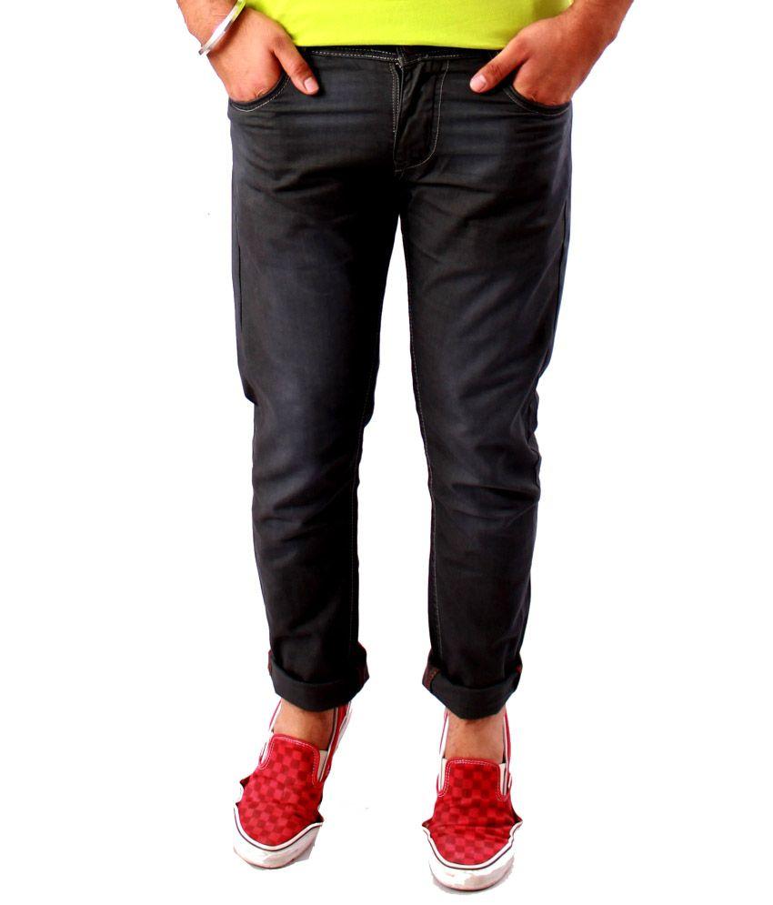 Zinius Gray Cotton Jeans