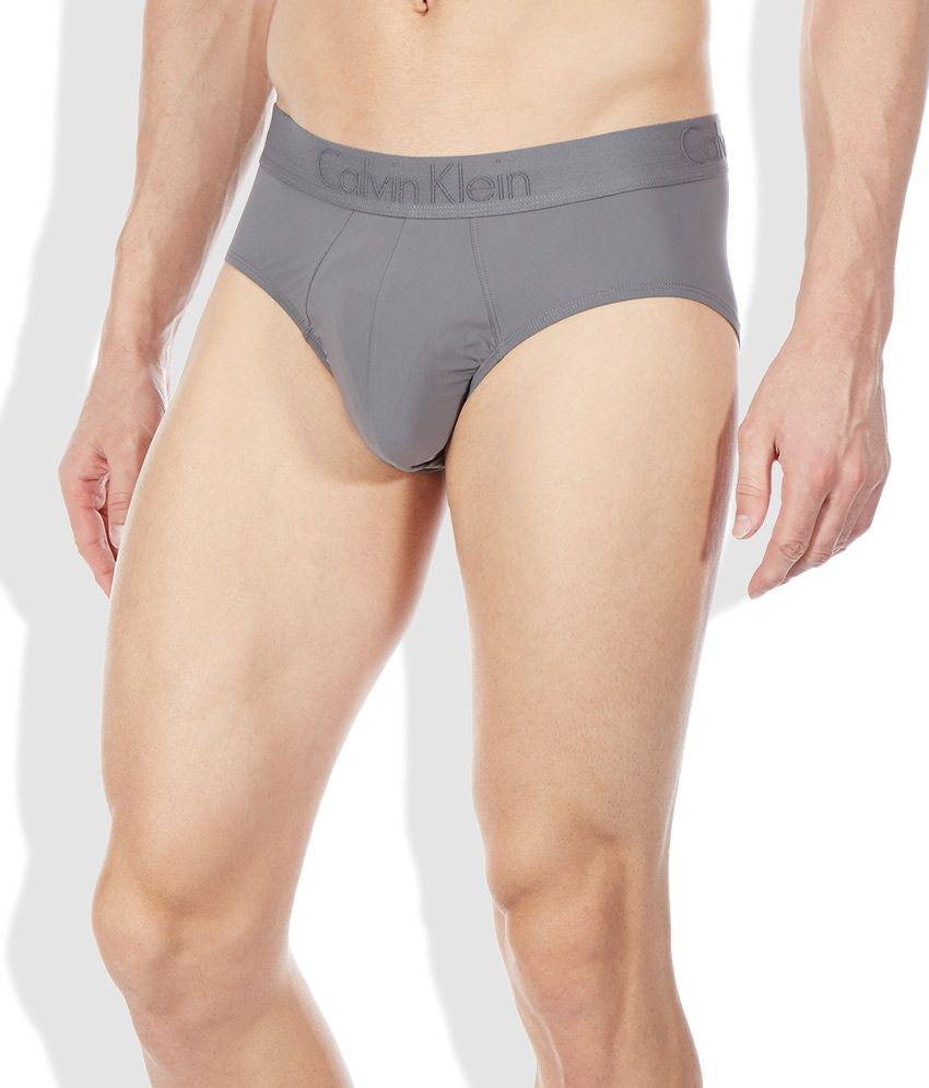 78a7af1643 Calvin Klein Underwear Gray Cotton Blend Hip Brief - Buy Calvin Klein  Underwear Gray Cotton Blend Hip Brief Online at Low Price in India -  Snapdeal