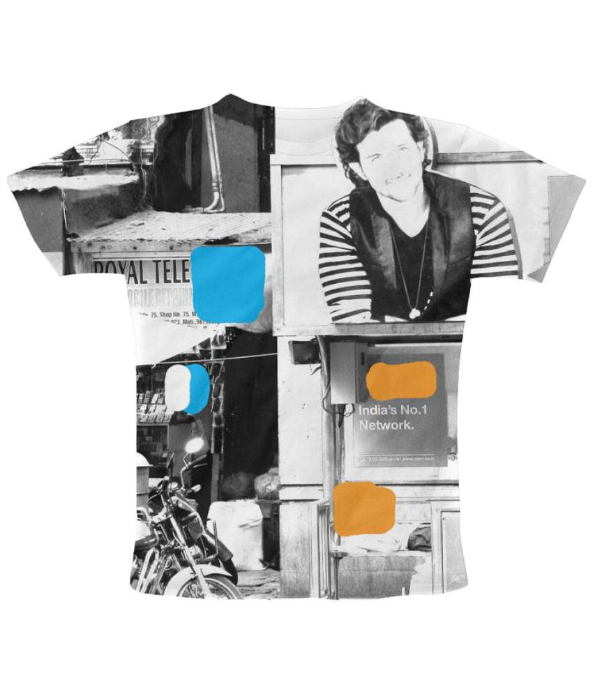 Freecultr Express Bus Stop Graphic Multicolour Half Sleeve T Shirt