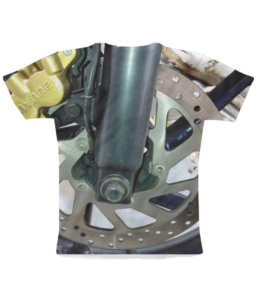 Freecultr Express Diskbrake Graphic Gray Short Sleeve T Shirt