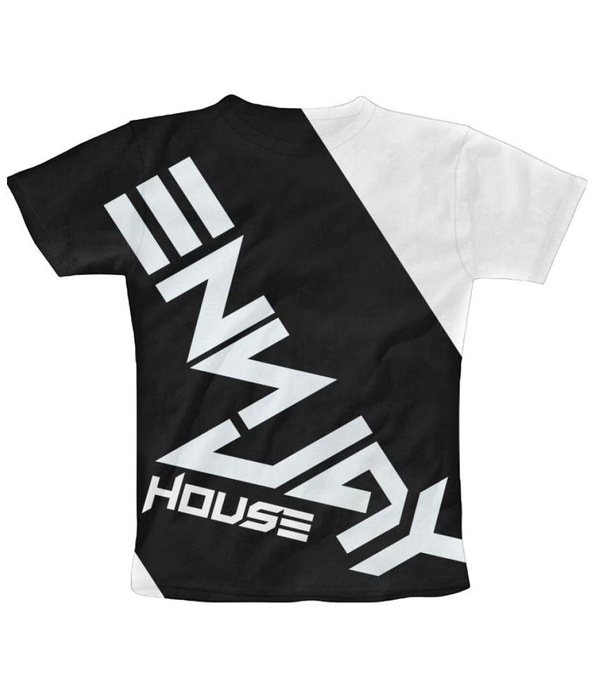 Freecultr Express Dj Graphic Black & White Half Sleeve T Shirt