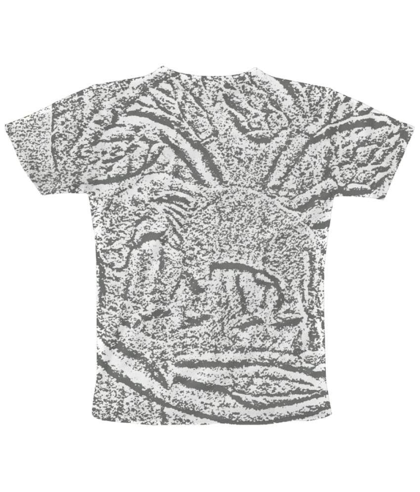 Freecultr Express Elegant Elephant Graphic Gray & White Half Sleeve T Shirt