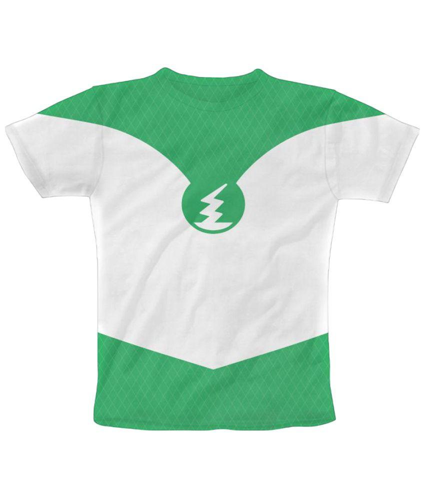 Freecultr Express Flash Tee 2.0 Graphic Green & White Half Sleeve T Shirt