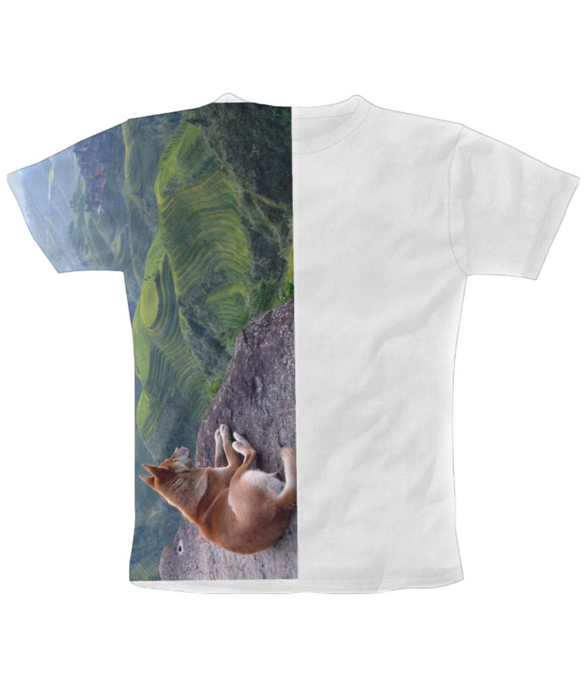 Freecultr Express Hil Dog Graphic Multicolour Half Sleeve T Shirt