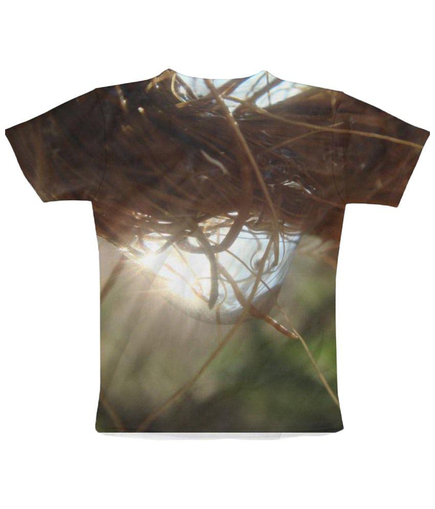 Freecultr Express Shine Graphic Brown & Green Half Sleeve T Shirt
