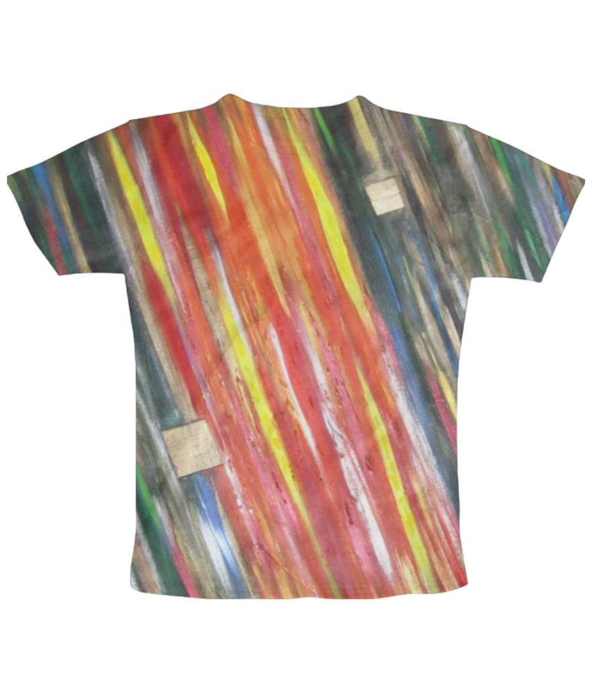 Freecultr Express Skulls And Pistons Graphic Multicolour Half Sleeve T Shirt