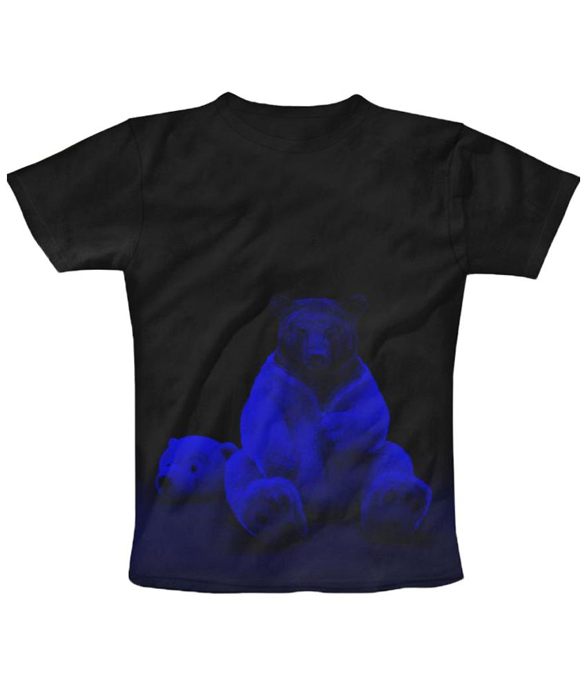 Freecultr Express Teddy Graphic Black & Blue Half Sleeve T Shirt