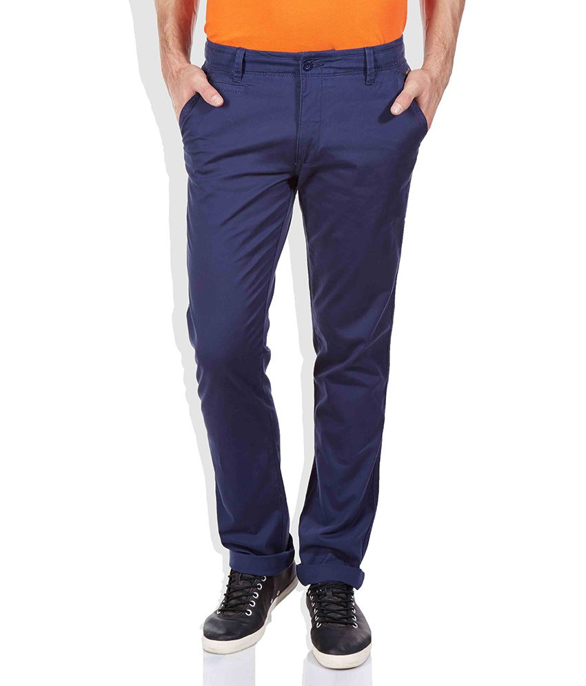 Izod Navy Slim Trouser