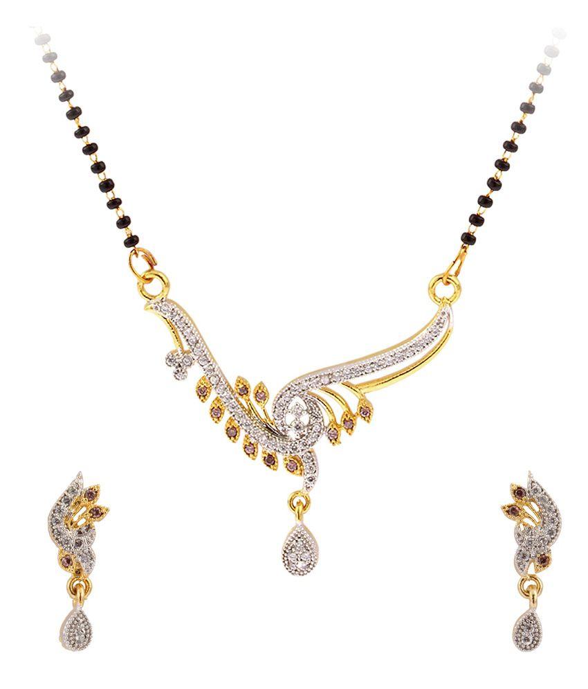 Luxor Modern Designer American Diamond Studded Mangalsutra