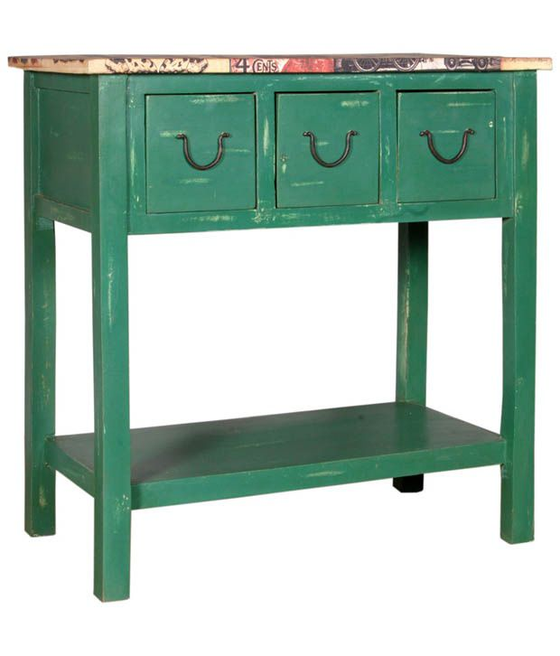 Worcester Console Table In Green