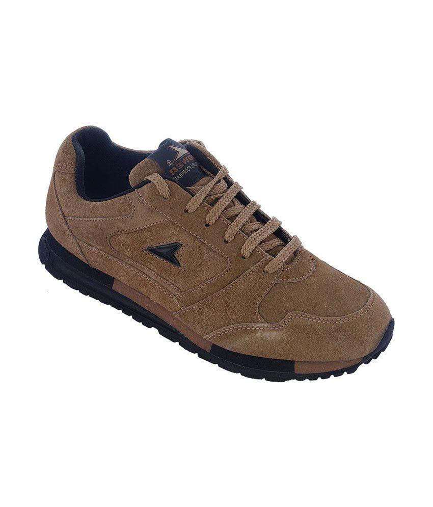 bata brown sport shoes