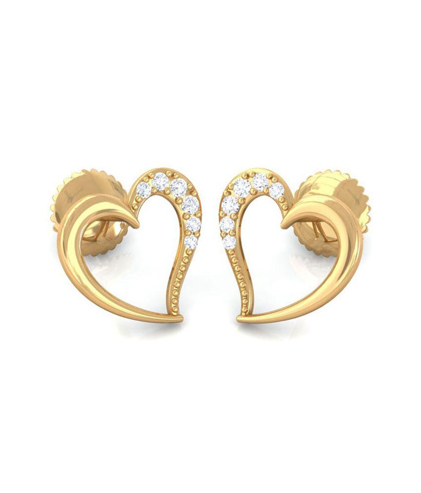 Diaashi Diamond Anoushka Heart Earrings