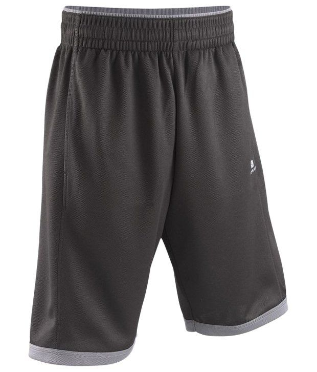 Domyos Black Mesh Fitness Shorts For Men