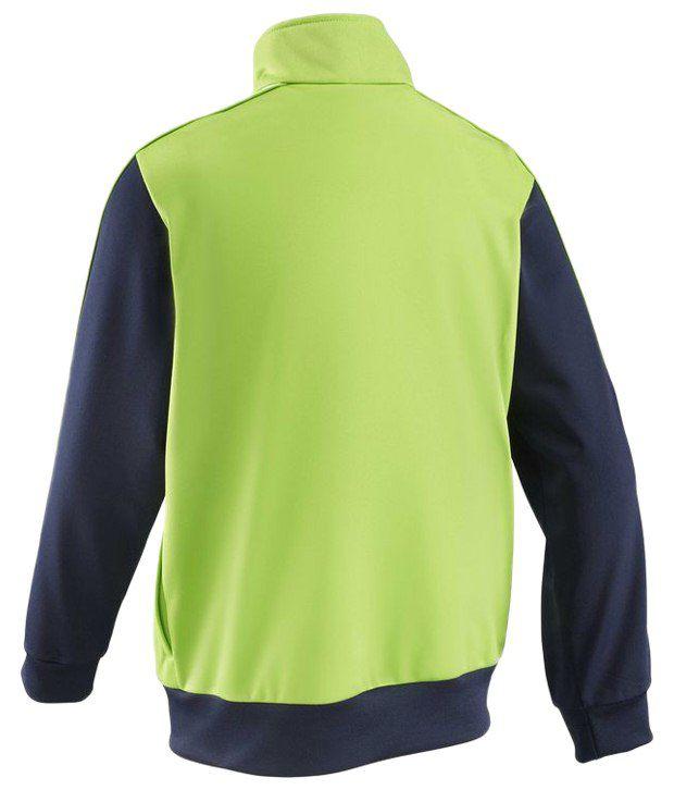 Domyos Green Full Sleeves Fitness Jacket For Boys