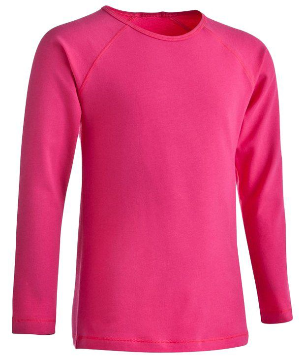 Domyos Pink Fitness Long Sleeves T Shirt For Girls