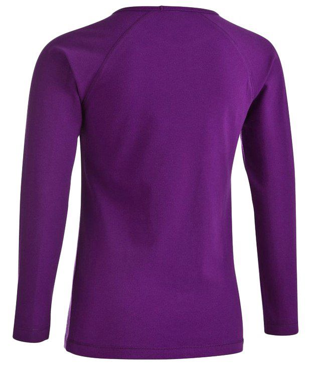 Domyos Purple Fitness Long Sleeves Top For Girls