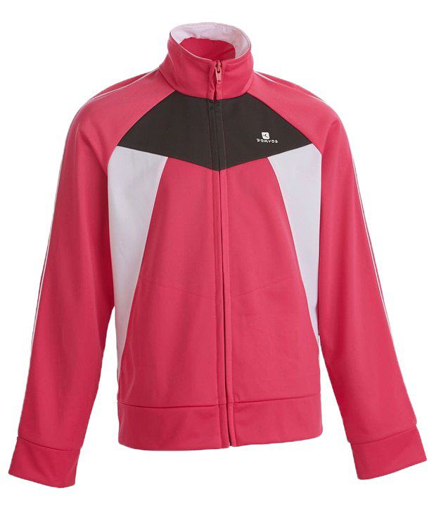 Domyos Red Full Sleeves Fitness Jacket For Women