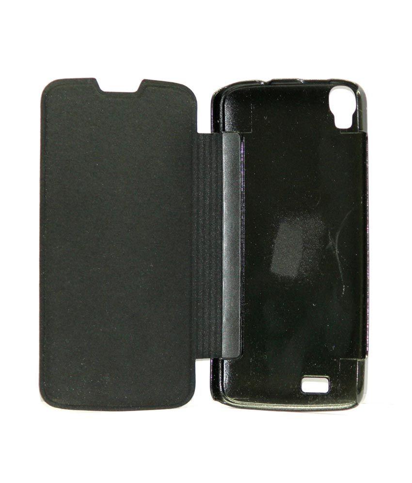 new arrivals d5ee2 23529 Gizmofreaks Synthetic Flip Flap Cover for Intex Aqua Speed - Black