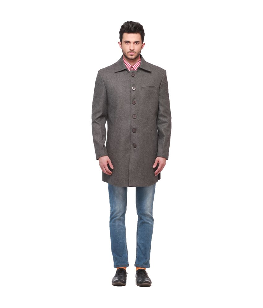 Jogur Gray Party Wear Coat