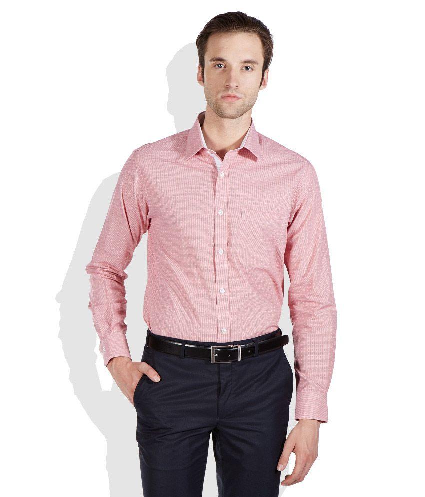 Raymond red slim fit formal shirt buy raymond red slim for Trim fit tuxedo shirt