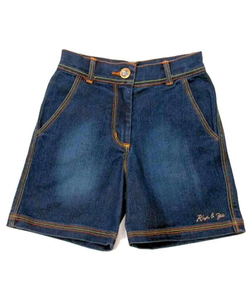 Riya N Zone Blue Denim Shorts