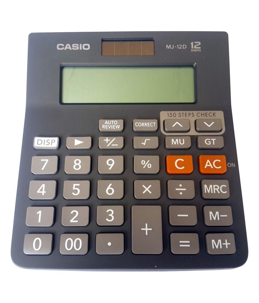 Casio Basic Calculator Mj-12vc- Black