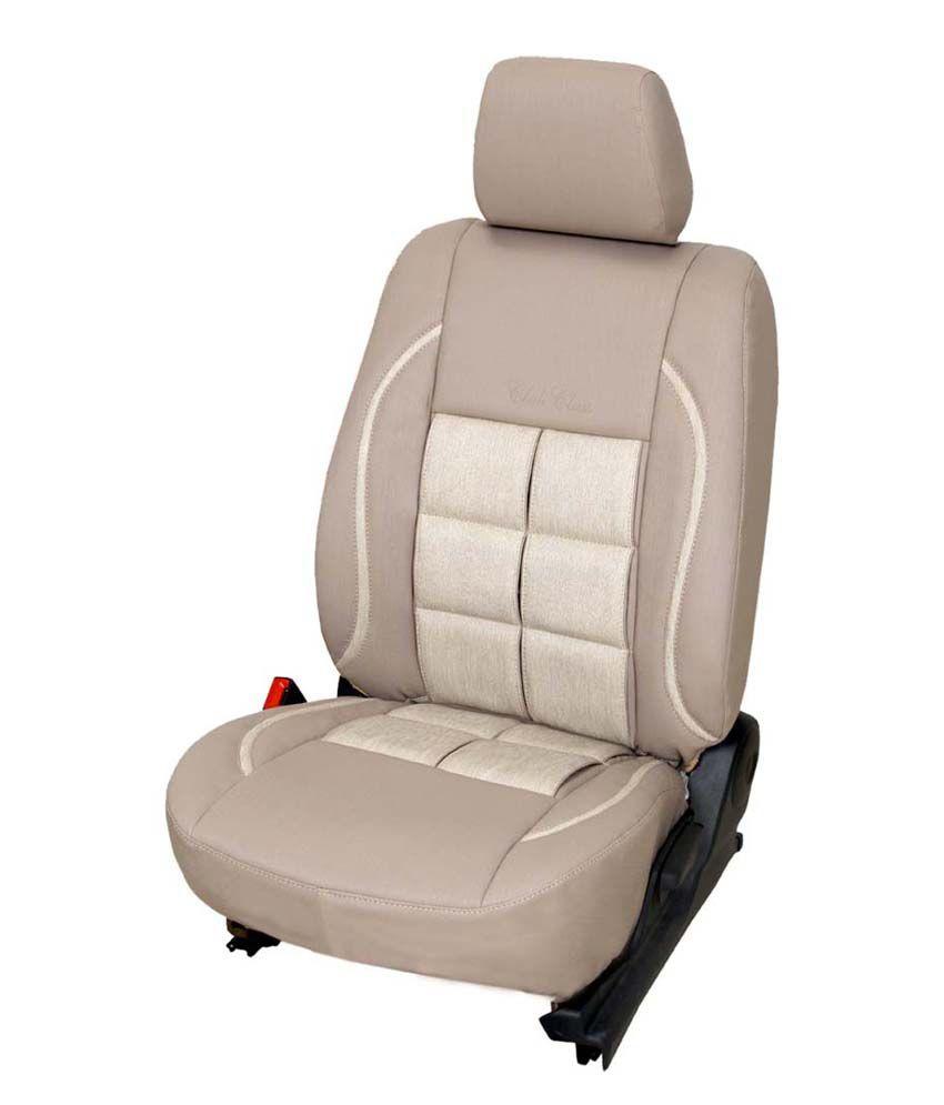 Club Class Car Seat Cover For Maruti Dzire Design Paddy Colour