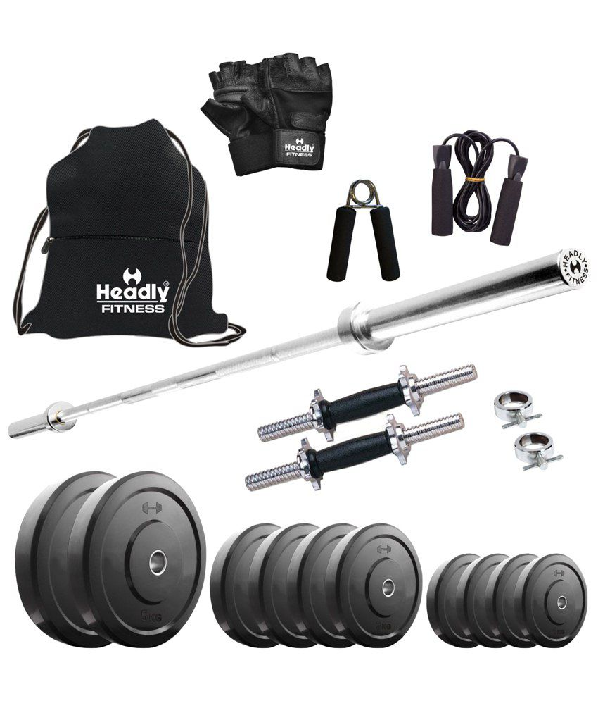 Gym Equipment Vadodara: Headly 20kg Home Gym Set With Plain Rod, 2 (14 Inch