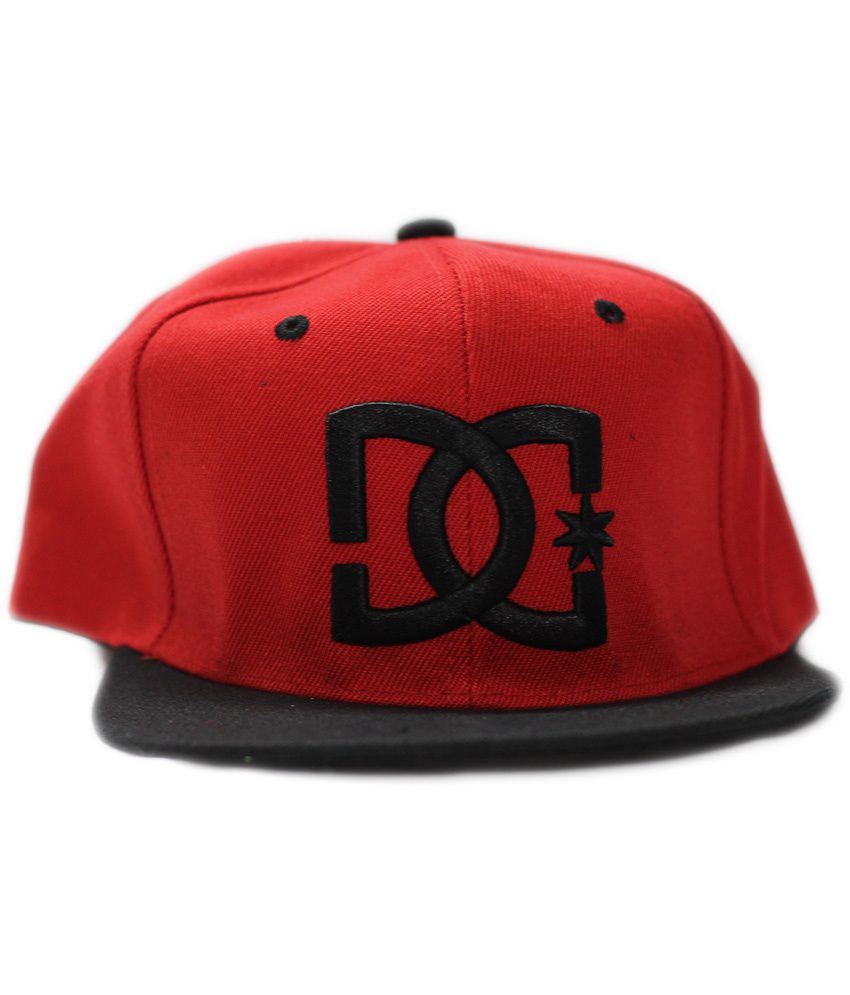 Multibrand Red Cotton Hiphop Cap for Men