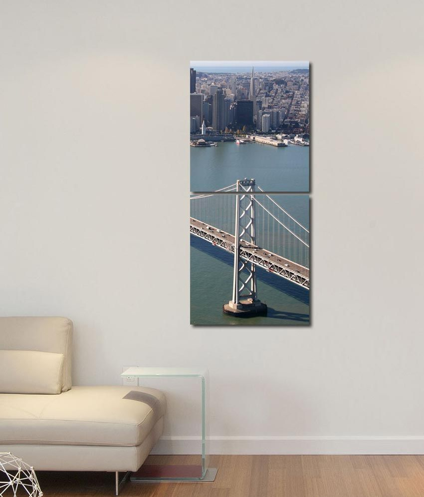 999store Glossy Printed Bridge Modern Wall Art Painting With Frame -2 Frames
