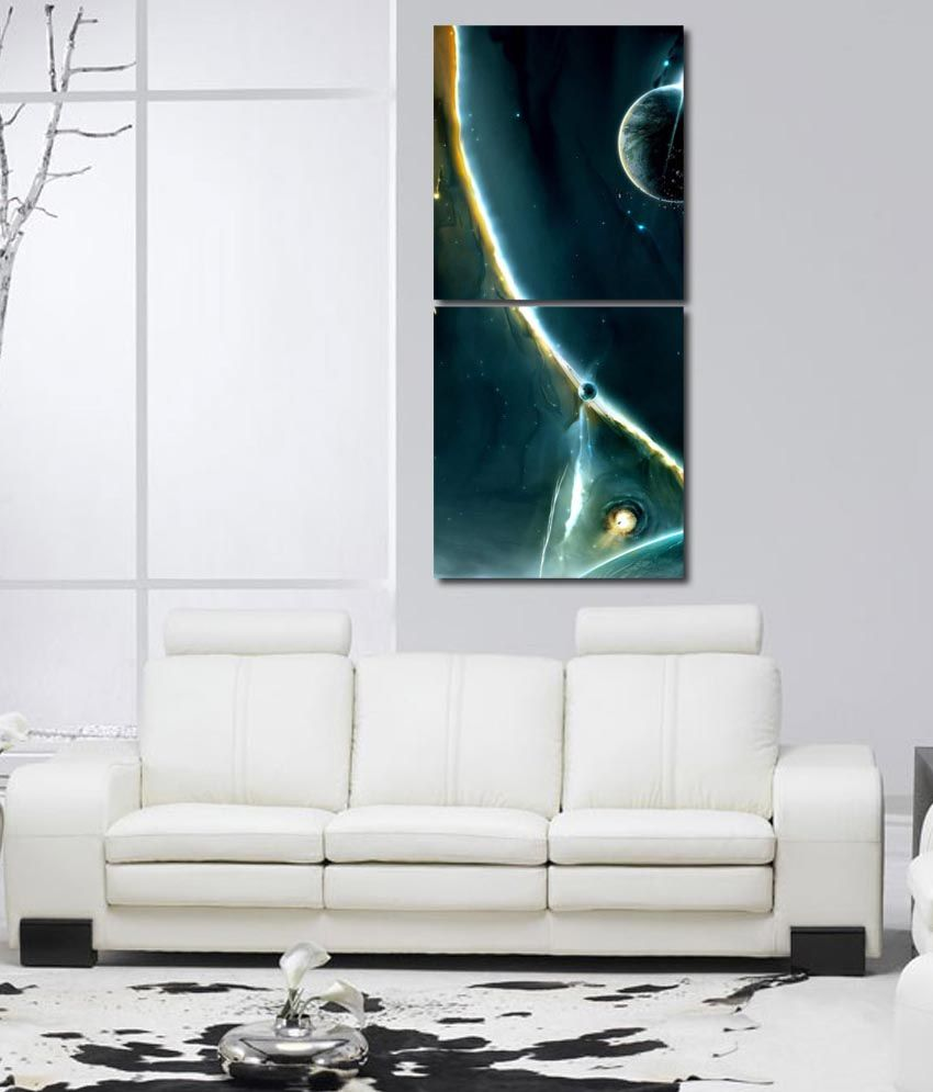 999store Glossy Printed Printings Design Wall Art Painting With Frame -2 Frames