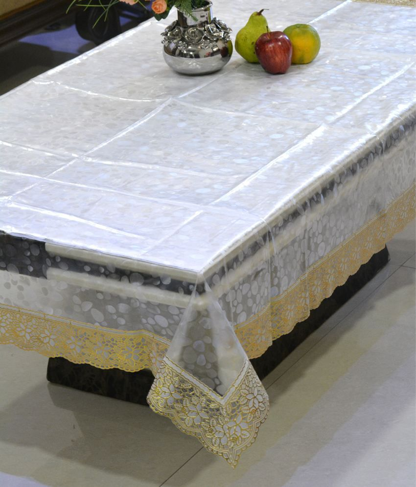 Freely Pvc Transprant With Pvc Lace Center Table Cover (4 Chair )