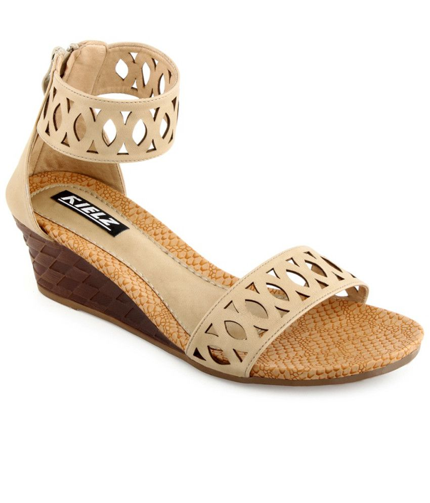 Kielz Sophisticated Beige Heeled Sandals