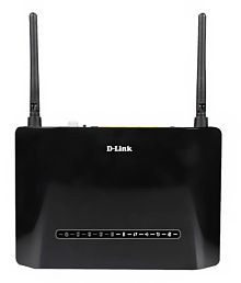 D-Link DSL 2750U Wireless N 300 ADSL2+ 4-Port WiFi Router with Modem-Black