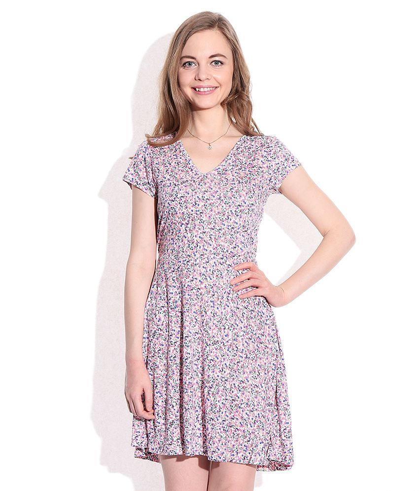 FCUK Pink Floral Dress - Buy FCUK Pink Floral Dress Online at Best Prices  in India on Snapdeal 569f925e2