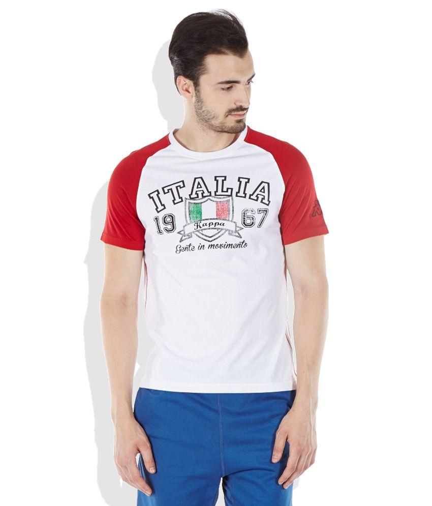 Kappa White Round Neck T-Shirt