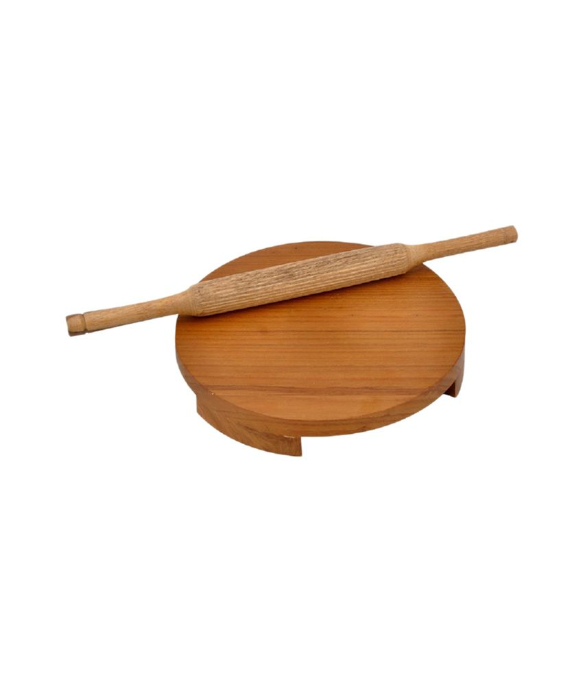 Online Bucket Brown Wooden Polpat Roti Roller (Combo Large)