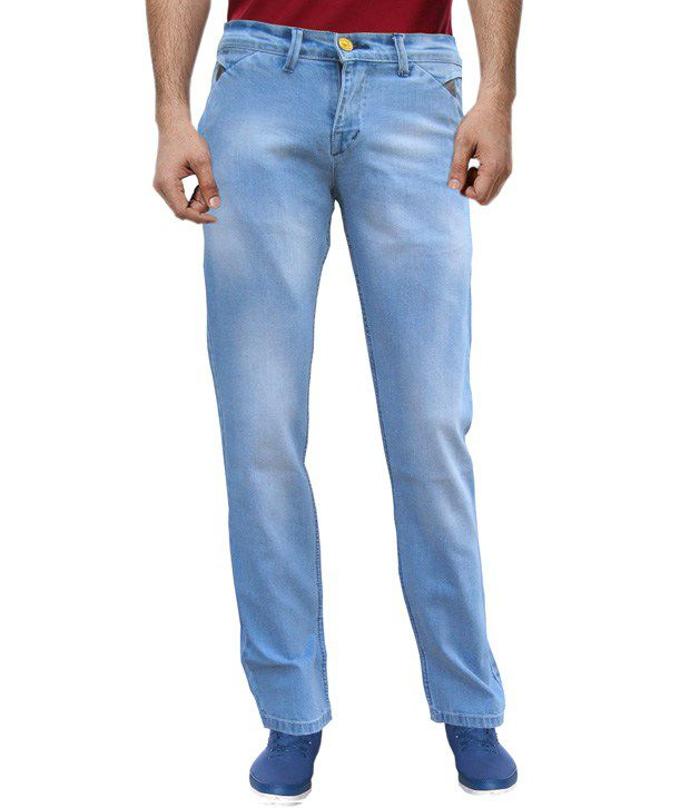 White Pelican Jeans With Lycra Denim Regular Fit