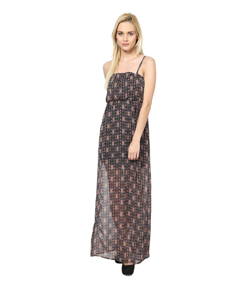 90f4b6ba0e56 Harpa Black Georgette Printed Dress Harpa Black Georgette Printed Dress ...