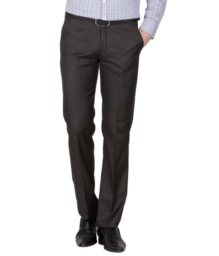 Mustin Grey Regular Fit Trouser