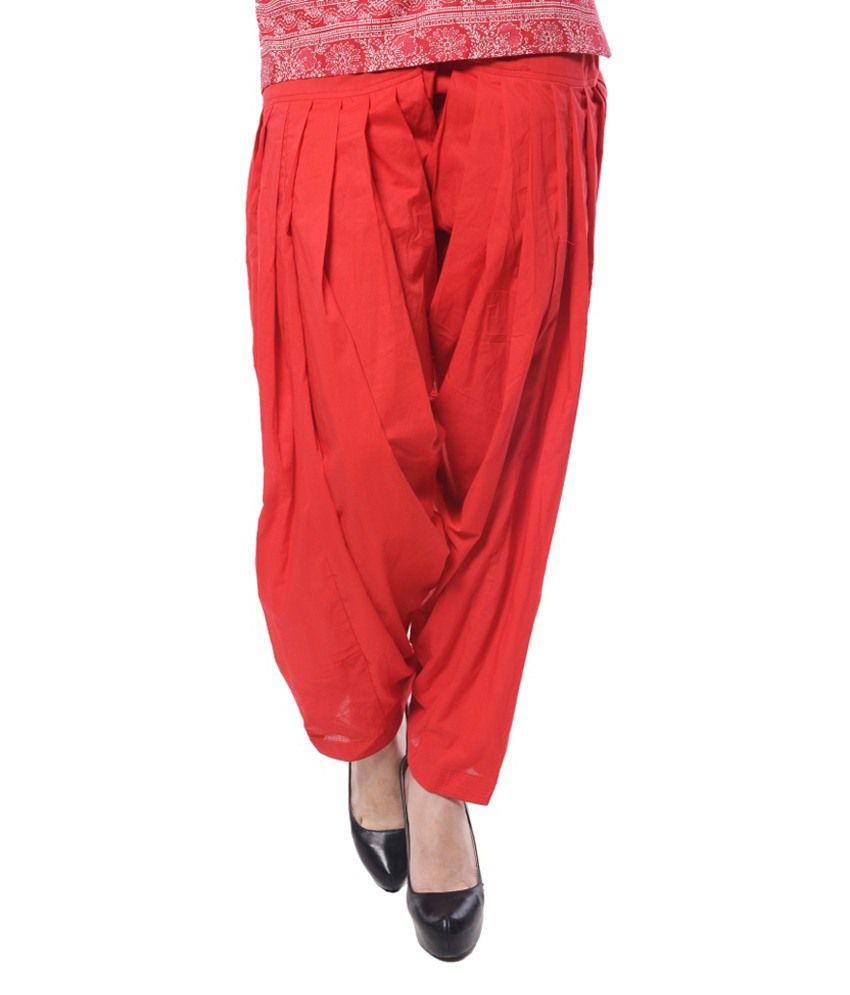 Vivek Agarwal Red Cotton Dress Material