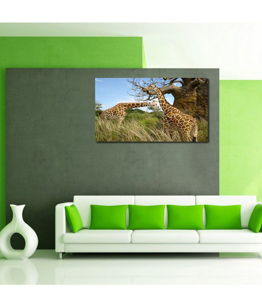 999Store Giraffe In The Forest Printed Modern Wall Art Painting - Large Size